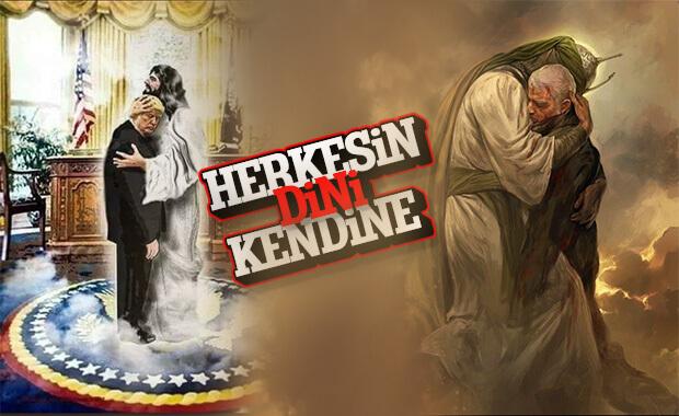 Trump Hz. İsa ile Süleymani Hz. Ali'yle resmedildi