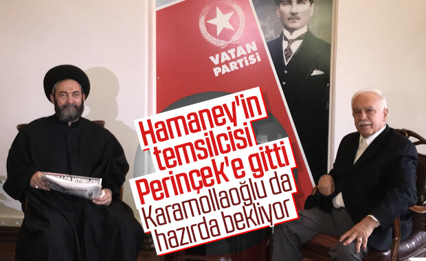 Hamaney'in temsilcisi Amili'den Perinçek'e ziyaret