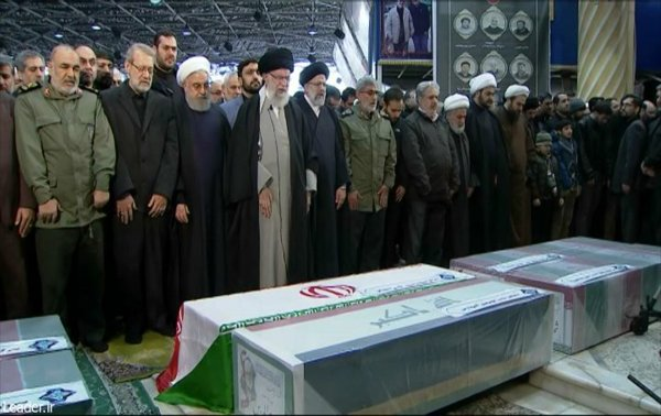Kasım Süleymani'nin cenaze namazı kılındı