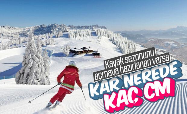 Kayak merkezlerinde kar kalınlığı 100 santimi geçti