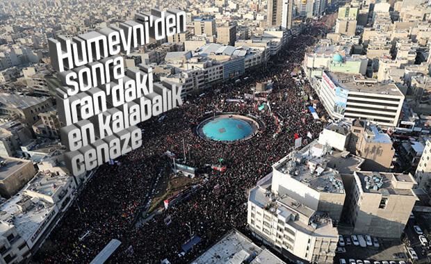 Kasım Süleymani'nin cenazesine binlerce İranlı katıldı