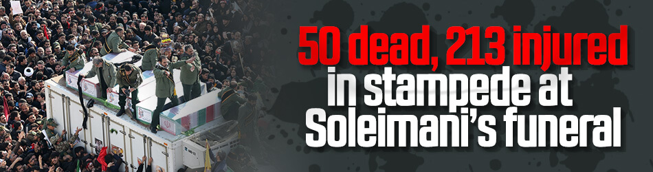 50 killed in stampede at Soleimani's funeral