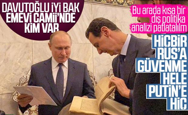 Putin ile Esad Emevi Camii'nde
