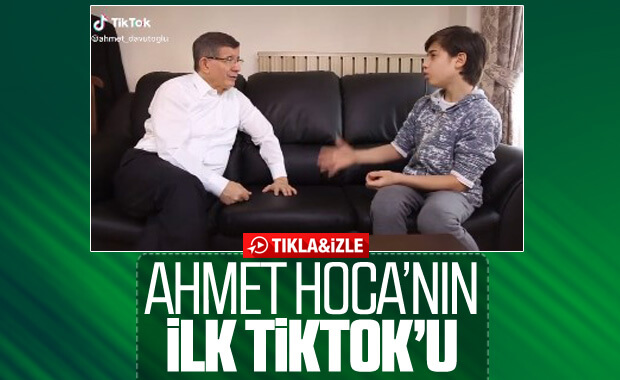 Davutoğlu'nun ilk TikTok paylaşımı