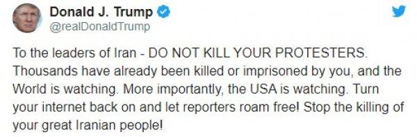 ABD'den İran'a müzakere çağrısı