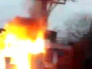 Diyarbakır'da kaçak elektrikçiler yüzünden patlayan trafo