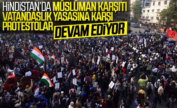 Hindistan'da Müslümanların protestosu devam ediyor