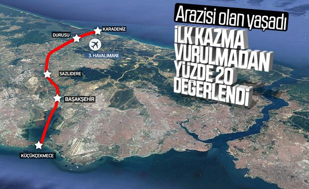 Kanal İstanbul güzergahında arsalar yükselişte