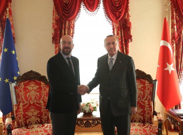 Erdoğan, AB'nin ikiyüzlülüğünü Michel'in yüzüne söyledi