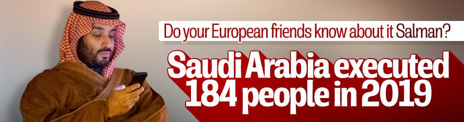 Saudi Arabia executed 184 people last year