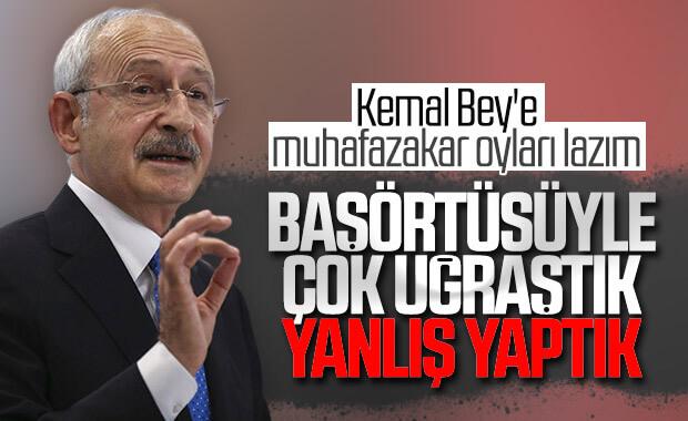 Kılıçdaroğlu, başörtüsü konusunda yine günah çıkardı