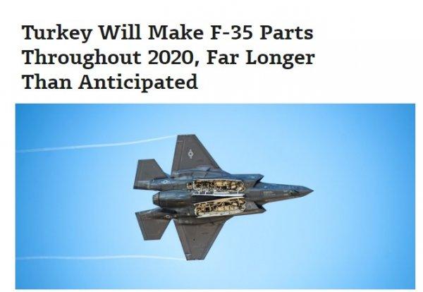 Türkiye'nin F-35 üretimi 2020 sonuna kadar devam edecek