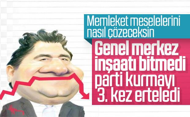 Ali Babacan parti kuruluşunu bir kez daha erteledi