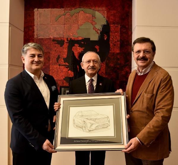 Kılıçdaroğlu, TOGG heyetini kabul etti