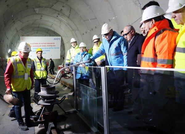 Havalimanı metrosunda ilk ray kaynağı