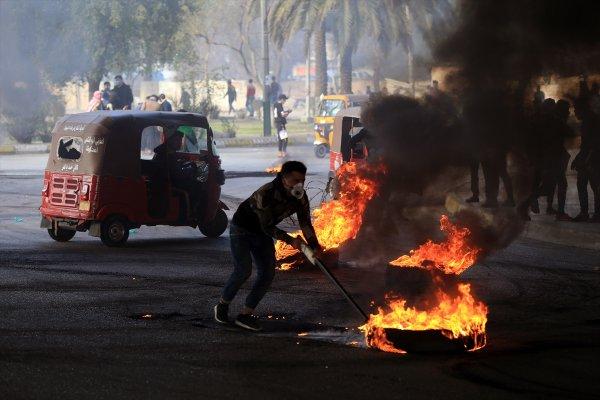 Bağdat'ta gösteriler devam ediyor