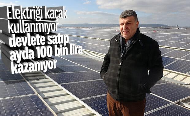 Güneşten ürettiği elektriği devlete satan iş adamı