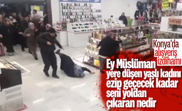 Konya'da alışveriş merkezi açılışında izdiham yaşandı