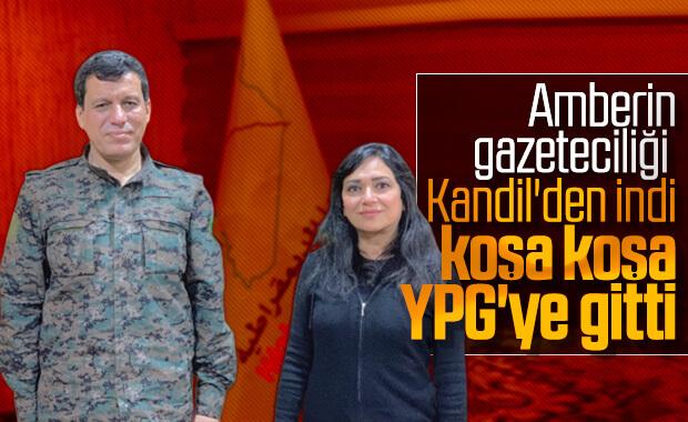 Amberin Zaman YPG'li teröristlerin yanında
