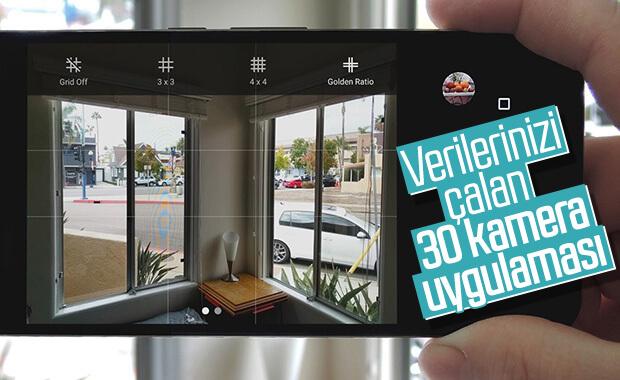 30 popüler kamera uygulamasının verileri ele geçirdiği ortaya çıktı