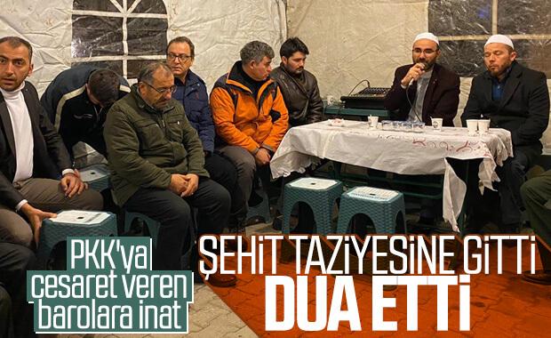 Metin Feyzioğlu'ndan şehit teğmenin ailesine taziye ziyareti