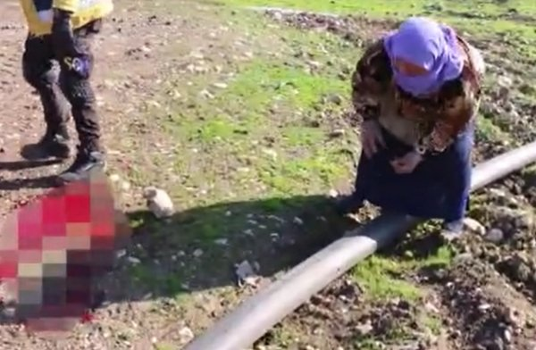 Halep'te ölen oğlunun parçalarını toplayan anne