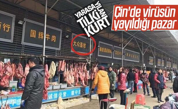 Çin'de koronavirüsün yayıldığı pazar