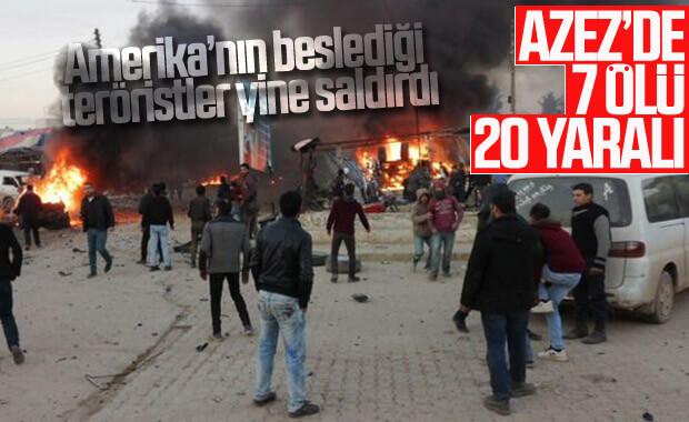 Azez'de sivillere YPG'literöristlerdenbombalı saldırı