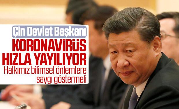Çin Devlet Başkanı: Koronavirüs salgını hızla ilerliyor