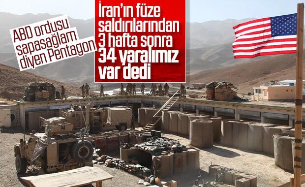 ABD: Irak'taki füze saldırılarında 34 askerimiz yaralandı