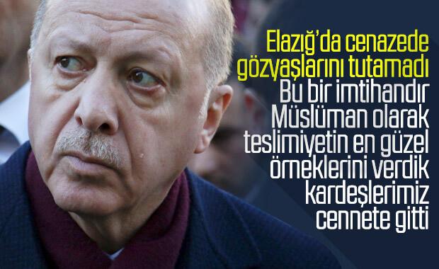 Cumhurbaşkanı Erdoğan, depremzedelerle buluştu