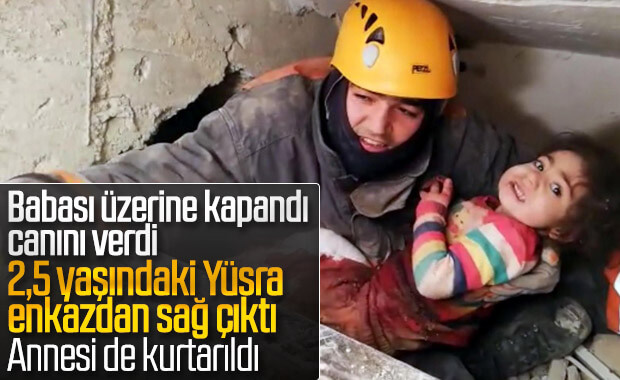 24 saat sonra kurtarılan küçük kızın annesi de sağ çıkarıldı