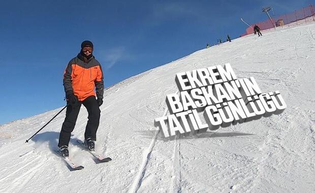 Ekrem İmamoğlu, Erzurum'da kayak yaptı