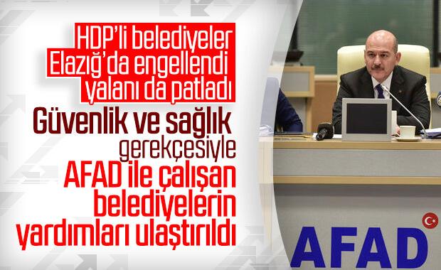 Bakan Soylu: AFAD ile iş birliği yapılan yardımları aldık