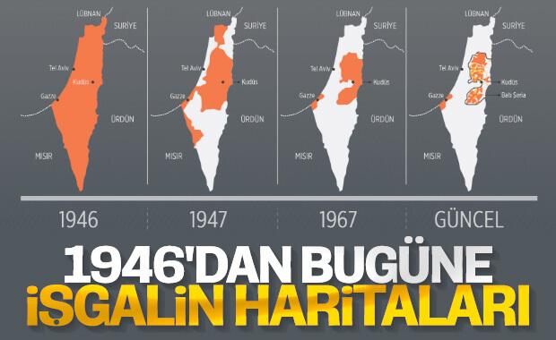 İsrail'in adım adım işgal ettiği Filistin