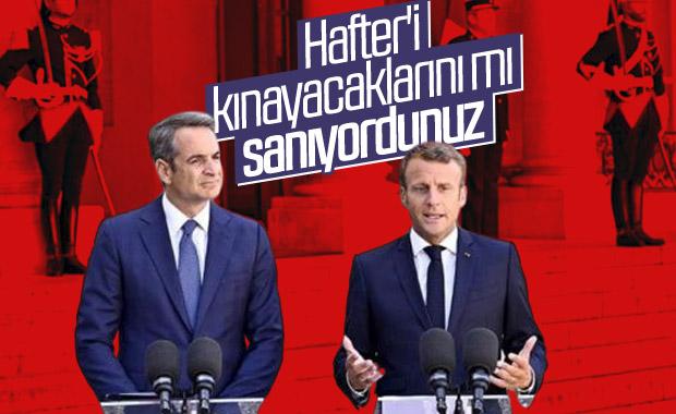Macron'la Miçotakis: Türkiye'yi kınadık