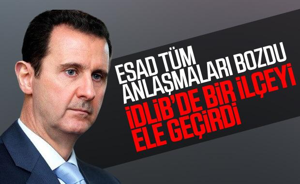 Esad rejimi İdlib'in Maarratünnuman ilçesini ele geçirdi