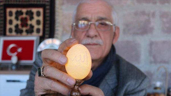 Yumurta kabuğuna 11 bin 827 delikle sanatını işledi