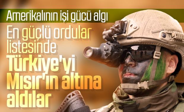 Amerikalılar Türkiye'yi ordu sıralamasında geriye attı
