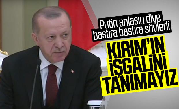 Erdoğan: Kırım'da yasa dışı ilhak var