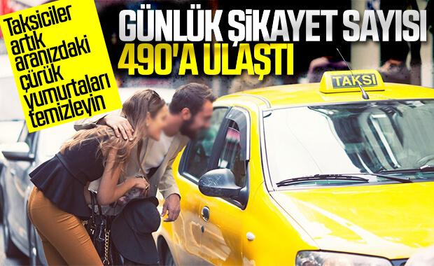Taksicilerle ilgili şikayet sayısı