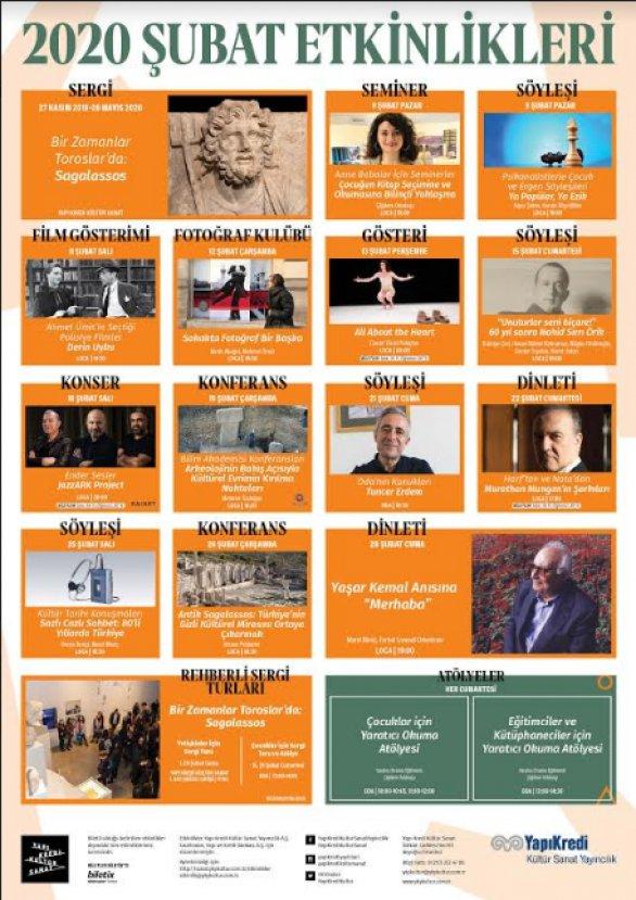 Yapı Kredi Kültür Sanat'ta Şubat ayı etkinlikleri