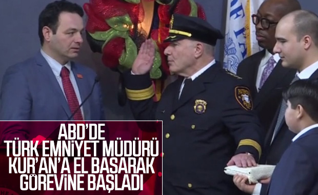 ABD'de Türk emniyet müdürü görevine başladı