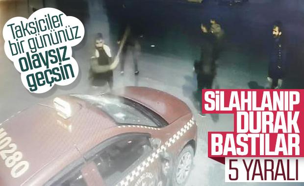 Esenyurt'ta taksiciler birbirine girdi: 5 yaralı