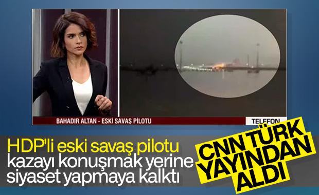 CNN Türk'te siyaset yapan eski pilot yayından alındı