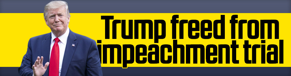 Trump freed from impeachment trial