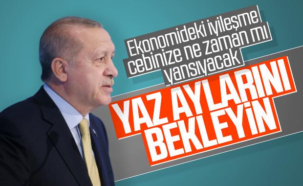 Erdoğan, ekonomideki gelişmeler için yazı işaret etti