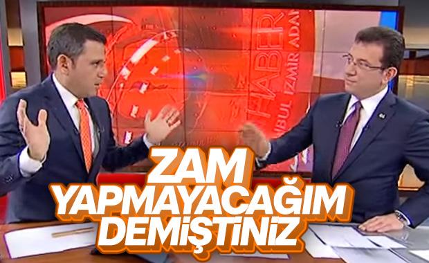 Fatih Portakal'dan Ekrem İmamoğlu'na zam tepkisi