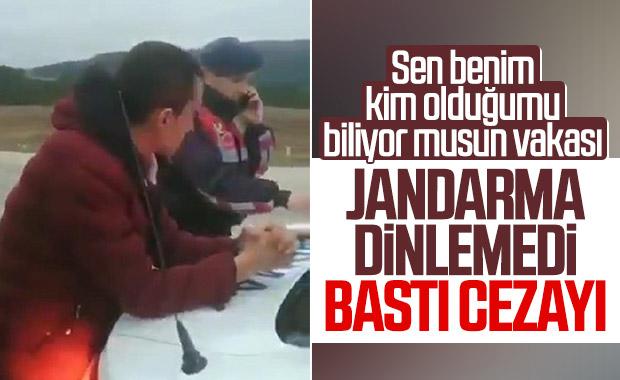 Sinop'ta alkollü sürücü jandarmayı tehdit etti