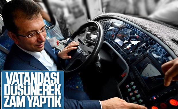 İstanbul'da ulaşım zammı İmamoğlu'na soruldu